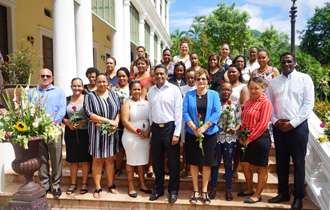 On the occasion of International Women's Day, the President of the Republic, Mr Danny Faure, welcomed a group of women from the fisheries industry at State House.