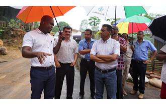 President Danny Faure visited several areas of the Port Glaud district as part of his ongoing programme of community visits.