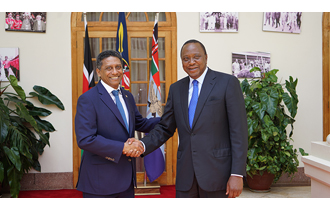 President Danny Faure and the President of the Republic of Kenya, H.E. President Uhuru Kenyatta, identified and agreed on the priority areas in which to deepen cooperation during bilateral talks held at State House, Nairobi.
