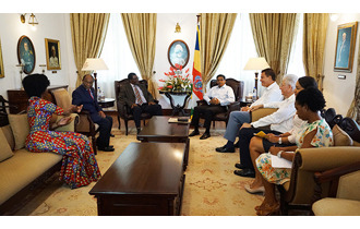 President Danny Faure received a delegation from the SADC Electoral Advisory Council (SEAC)  at State House.