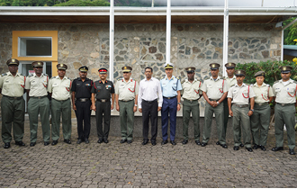 The President of the Republic and Commander-In-Chief of the Seychelles People's Defence Forces (SPDF), Mr Danny Faure, visited the Defence Forces Headquarters at Bel Eau