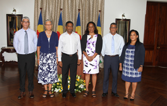 President Faure, witnessed the swearing-in of the Electoral Commissioners of Seychelles, during a swearing-in ceremony held at State House