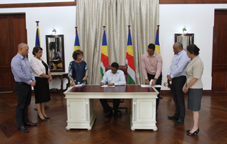 President Danny Faure assented to the Seychelles Human Rights Commission Act 2018.