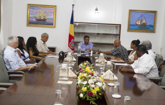 President Faure receives members of Preserve Seychelles at State House