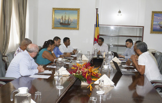 President Faure receives members of the La Digue Business Association