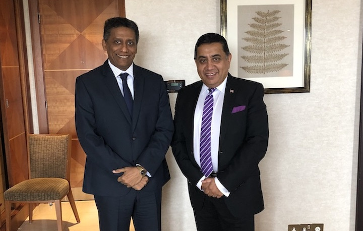 President Faure meets with Lord Ahmad of Wimbledon