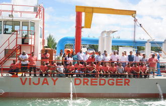 President Faure attends official launching of Vijay Construction Dredger