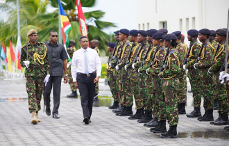 President Faure attends Defence Forces Day Parade
