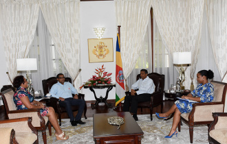 President Faure meets with the Red Cross Society of Seychelles