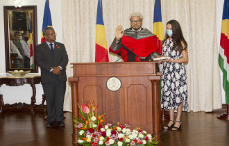Chief Justice of the Supreme Court of Seychelles Sworn In