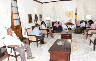 President Ramkalawan meets members of the Retailer's Association