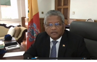 "President Ramkalawan addresses the RENEWPAC virtual conference - ""Europe & Africa: Rebuilding the Future"""