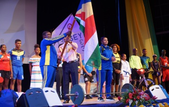 President Faure attends send-off for 10th Indian Ocean Island Games 2019