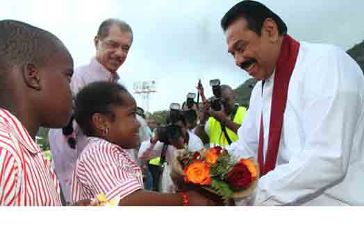 President Michel Welcomes Sri Lankan President on Historic Visit