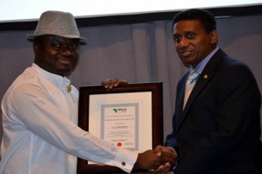 President Michel Recieves African Development Excellence Award