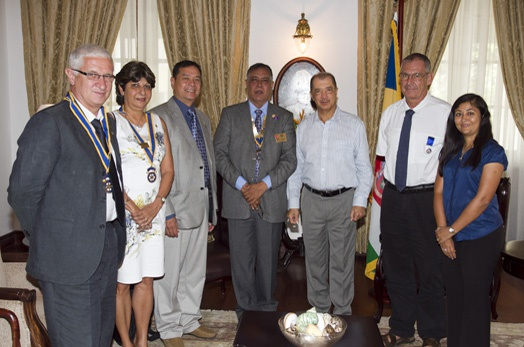 President Michel meets with Rotary District Governor and Club Presidents