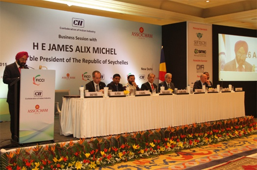 """Seychelles is not just a place for holidays, but also a great place for investment""- President Michel addresses Indian Business Community"