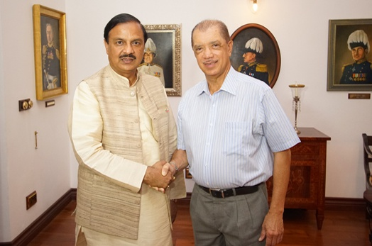 Seychelles President meets with the Indian Minister of State for Culture, Tourism and Civil Aviation
