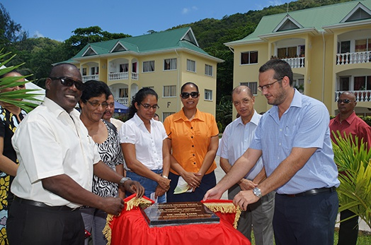 President Michel attends the launch of Habitat Week 2015 at Karl Tamatave estate