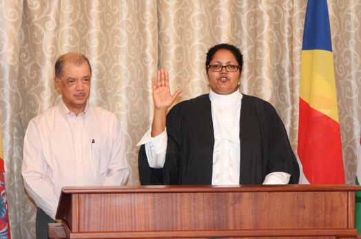 Master of the Supreme Court of Seychelles is sworn into office
