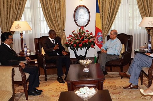 President Michel meets with Chairman and Vice-Chairman of Anti-Corruption Commission