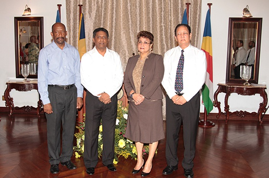 Vice-President Meriton, Designated Minister Mondon and Minister Larose Sworn in Office