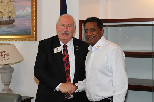 President Faure Meets The Lions Club International Delegation