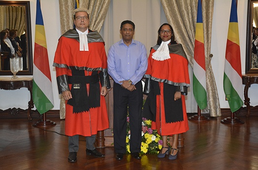 Justice Govinden and Justice Pillay Sworn In as Judges of the Supreme Court of Seychelles