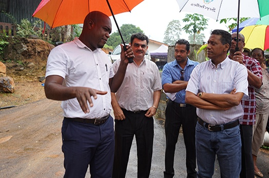 President Faure Visits the Port Glaud District