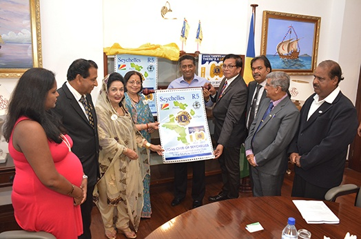 President Faure Meets Lions Clubs International Delegation Celebrating their Centennial
