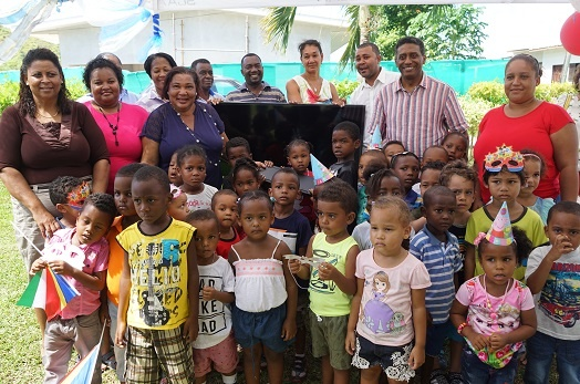 President Faure visits schools on inner islands to mark International Children's Day