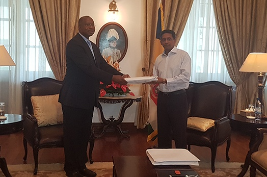 President Receives Report of Inquiry into Judge Karunakaran