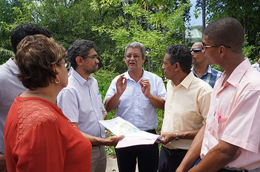 President Faure visits Anse Aux Pins and Au Cap District