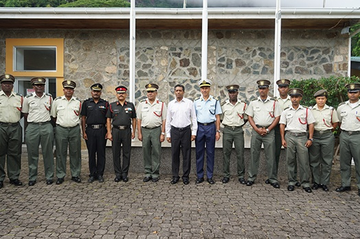 President Faure visits Seychelles People's Defence Forces Headquarters