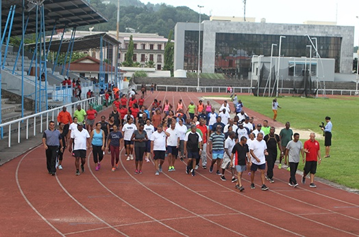 President Faure starts weekly exercise initiative
