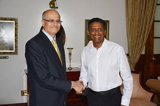 President Faure Receives Foreign Secretary of the Government of India