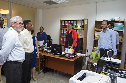 President Danny Faure visits the Ministry of Finance, Trade, Investment and Economic Planning