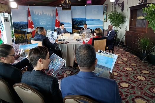 President Faure captivates SIDS roundtable at G7 summit