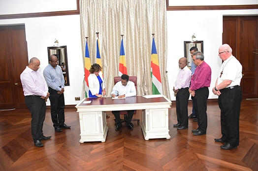 President Faure assents to the Truth, Reconciliation and National Unity Commission Act 2018
