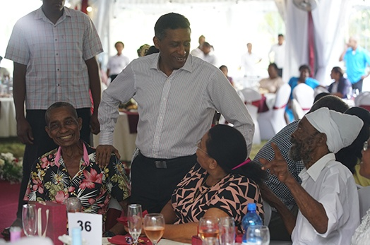 President Faure hosts reception for Senior Citizens to mark International Day for Older Persons