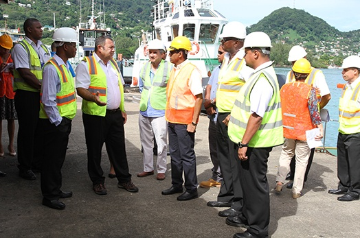 President Faure visits Seychelles Ports Authority