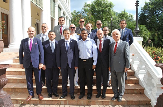 President Faure receives Turkish Delegation