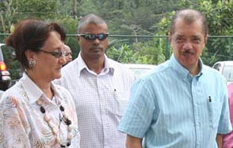 President Makes Second Visit To La Misere
