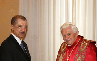 President Michel on official visit to the Vatican