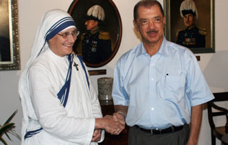 President Meets with Superior General of the Missionaries of Charity