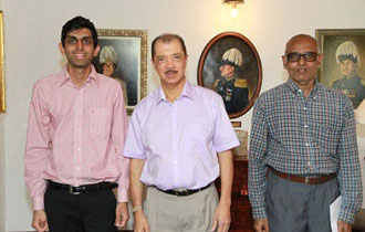 Seychellois Best Outstanding Engineering Student Meet President Michel