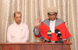 Justice Burhan sworn in as Puisne Judge