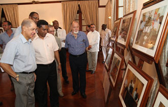 Exhibition marking President Michel 10th Year in office