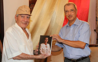 President Michel launches the book: 'Albert René  - The Father of the Modern Seychelles'