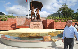 President Michel inaugurates Liberty monument for Seychelles Independence Day